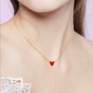Jewelry - RE-STOCKED!! .5925  Red ♥️ Necklace / (OS) NWT!!